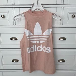 adidas Logo Tank - Light Pink Size S